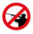 no hunting vector image vector image