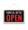 open sign business shop icon we are open vector image vector image