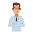 pharmacy pharmacist cartoon vector image