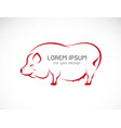 pig design on white background farm animals easy vector image vector image