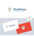 reindeer logotype with business card template vector image vector image