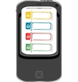Safely concept cellphone with lock set vector image vector image