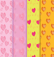 seamless heart patterns color full vector image vector image