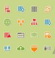 server icon set vector image