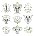 set golf logo labels and emblems vector image vector image