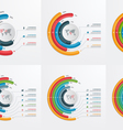 set of circle infographic templates 3 8 processes vector image vector image