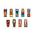 slot machines set arcade gambling equipment vector image vector image