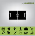 soccer field black icon at gray vector image vector image