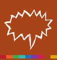 speech bubble hand drawn symbol design vector image