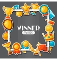 Sport or business award sticker icons background vector image vector image