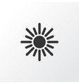 sun icon symbol premium quality isolated sunny vector image vector image