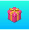 symbol gift vector image