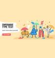 temperament types banner vector image