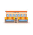 the building of a modern restaurant vector image