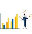 the level income and expenses successful vector image vector image