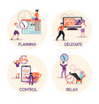time management concept compositions vector image