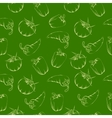 vegetable pattern - green vector image