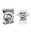warrior t-shirt print fight club mascot vector image