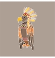 Eagle Wearing Tribal Clothing vector image