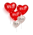 Red and white balloons Sale 01 vector image