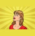 beautiful redhead woman vector image