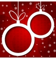 Christmas applique background vector image