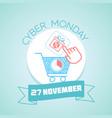 27 november cyber monday vector image vector image