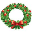 advent and christmas wreath vector image vector image