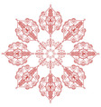 Asian inspired Flower Shape in red vector image vector image