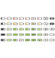 battery charge icons powered indicator charging vector image