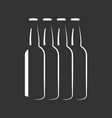 beer bottles silhouette background vector image