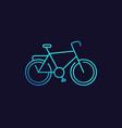 bicycle icon bike vector image
