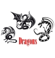 Black danger dragons vector image
