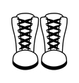 boots fashion style icon vector image