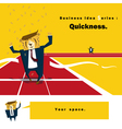 Business Idea series Quickness vector image vector image