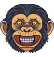 cartoon chimpanzee head mascot vector image vector image