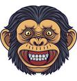 cartoon chimpanzee head mascot vector image