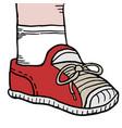 cartoon shoe vector image vector image