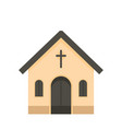 catholic church icon flat style vector image vector image