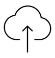 cloud upload line icon minimal 96x96 pictogram vector image vector image