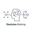 decision making critical thinking psychology vector image vector image