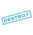 Destroy Rubber Stamp vector image vector image