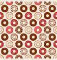 donuts background seamless pattern vector image