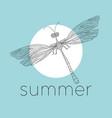 dragonfly damselfly line art vector image