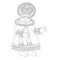drawing south indian traditional kathakali vector image