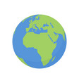 earth globe icon world planet with africa map vector image