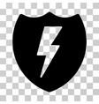 electric shield icon vector image vector image