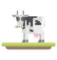 Farm animal Cow flat style vector image vector image
