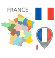 france administrative divisions vector image
