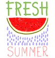 Fresh summer card design vector image vector image